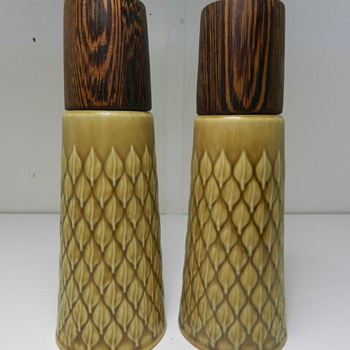 "Jens Quistgaard ""Relief"" Teak Salt & Pepper Shakers For Kronjyden"
