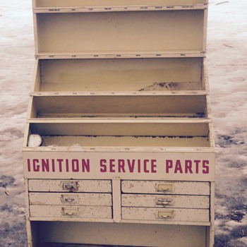 My Wells ignition service parts display stand!