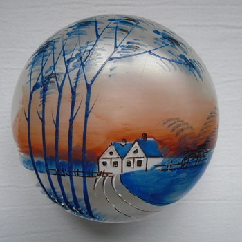 Enamelled Powder Bowl - Art Glass