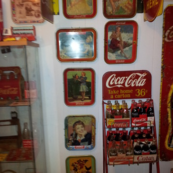 1938-1957 Coca-cola Serving Trays