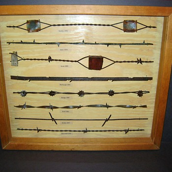 Antique Barbed Wire Shadow Box - Tools and Hardware