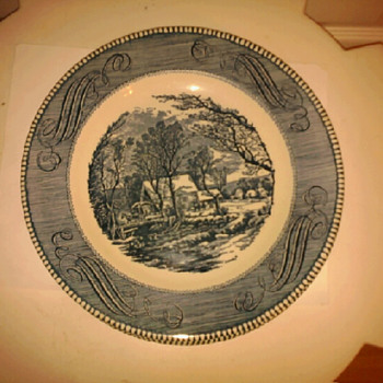 Currier & Ives plate - China and Dinnerware