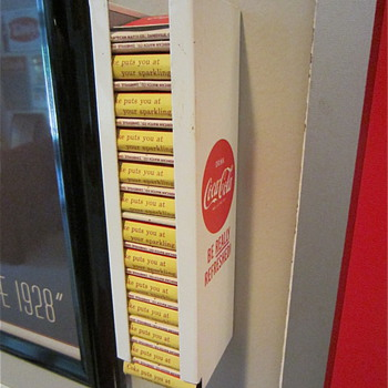 1959 Coca Cola Tin Matchbook Holder, complete with matches