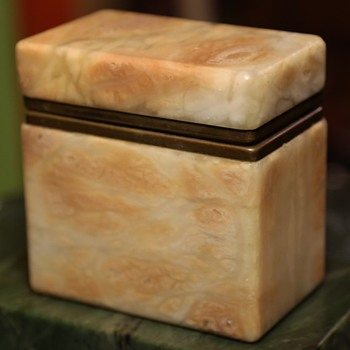 Carved Stone Box - Furniture