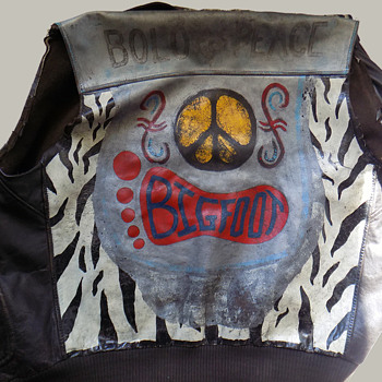 "1960s Motorcycle Jacket ""BOLO for PEACE"" named BIGFOOT - Mens Clothing"