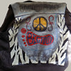 "1960s Motorcycle Jacket ""BOLO for PEACE"" named BIGFOOT"