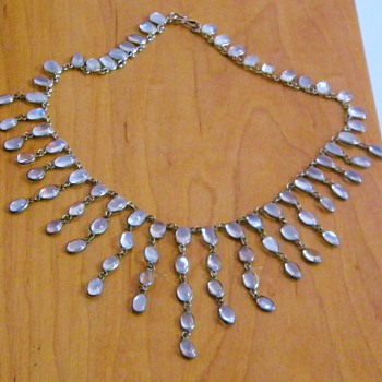 Vintage Antique Victorian Moonstone Festoon Necklace  - Fine Jewelry