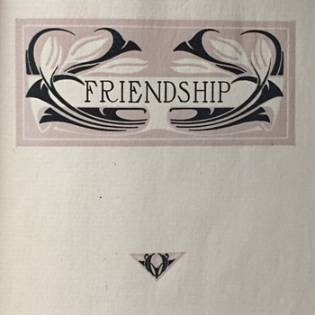 Friendship a compilation by John.C.Quincy. - Books