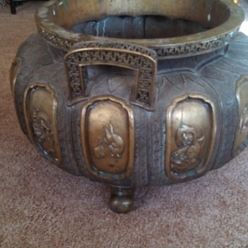 Chinese Brass Pot - Asian