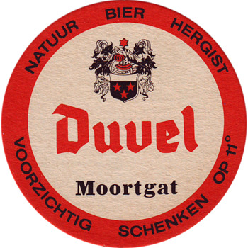 beer coasters Duvel - Breweriana