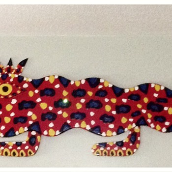BEBO 8ft King Gator - Folk Art