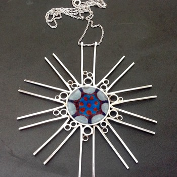 Norman Grant Silver, Enamel Pendant/Necklace - Fine Jewelry