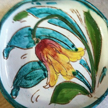 Italian pottery coasters - Art Pottery