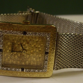 18k Gold & Platinum Le Coultre Art Deco Wrist Watch - Wristwatches