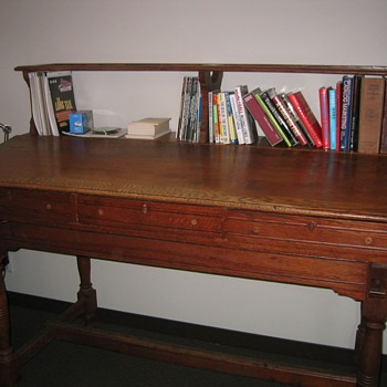 Turn of the Century Standing Clerk's Desk - Furniture
