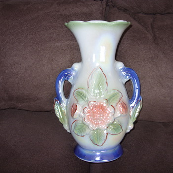 1924 brazil two handle vase - Art Pottery