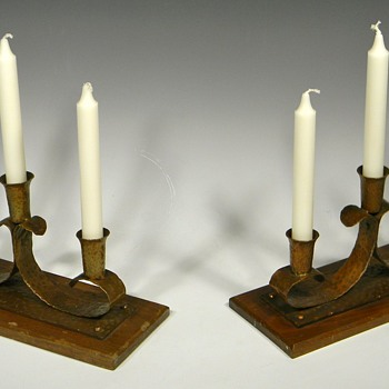 PAIR ofARTS & CRAFTS CANDELABRA?