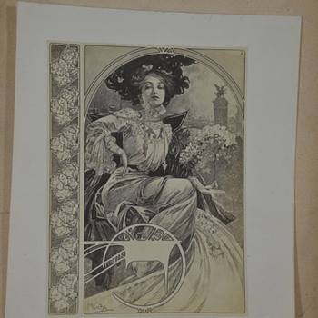 Alphonse Mucha Nude Lithograph? Folio? Prints