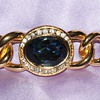 Christian Dior Costume Pin With Large Blue Glass Stone
