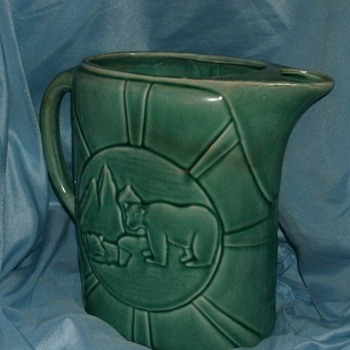 Polar Bear Ice Water Pitcher - Art Pottery