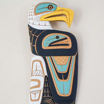 Lance Joseph Eagle Salmon Plaque - Visual Art