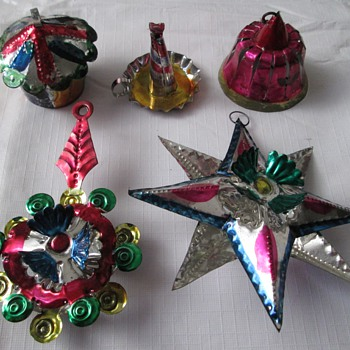 Mexican Tin Ornaments, Oaxacan - Christmas