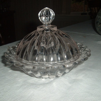 antique covered butter dish