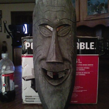 Goofy lookin Tiki Mask - Folk Art