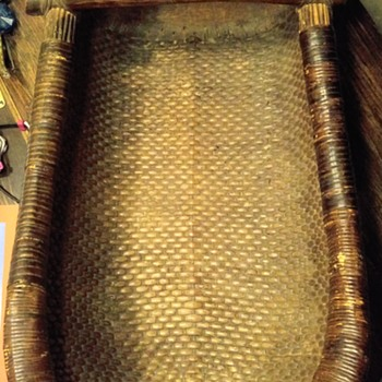 native american cradleboard / basket very old?