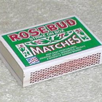 "Diamond Brands ""Rosebud"" Matchbox - USA"