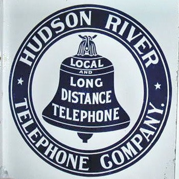 Hudson River Telephone Co. Porcelain Sign