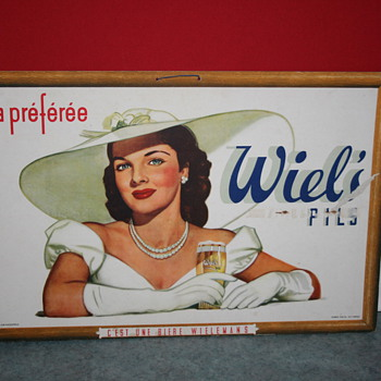 Wiel's beer cardboard poster - Advertising
