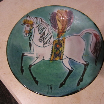 Mid Mod Circus Horse Bowl - Mid-Century Modern