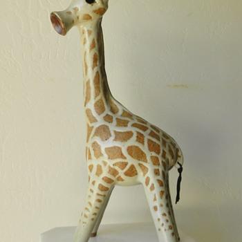 Mid/Mod Stoneware Giraffe - Danish? - Signed Deeg