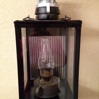 Handlan #208 square railroad station platform lamp