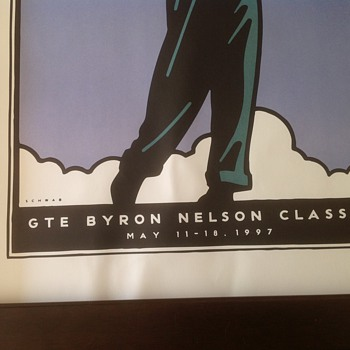 PGA Tournament GTE Byron Nelson Classic 1997 poster - Posters and Prints