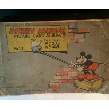 1st edition Mickey Mouse gum card book - Cards
