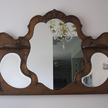 Oak Framed Mirror.  - Furniture