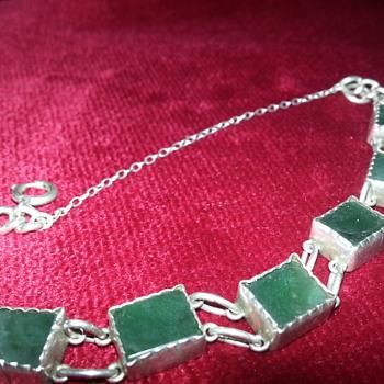 JADE & SILVER BRACELET - Fine Jewelry