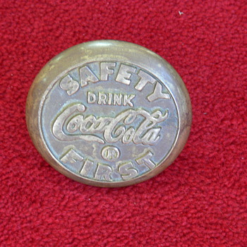 Brass Coca-Cola Safety First? - Coca-Cola