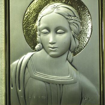 """Madona del Cardellino""""Paolo Rossini"""".925 Silver,XX century - Visual Art"""