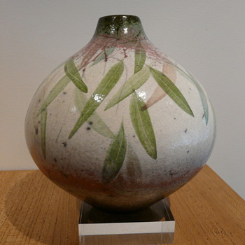 PETER HARRIS RAKU POT 1980's - Art Pottery