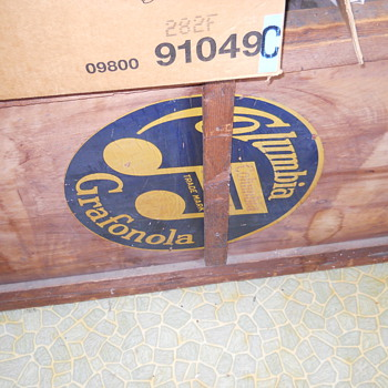Old phonograph type box only