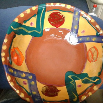 SONJA TEMPLETON colourful bowl - Art Pottery