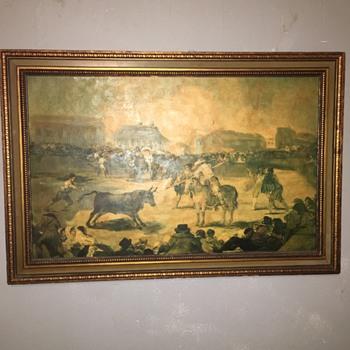 Goya bull fighting scene - Visual Art