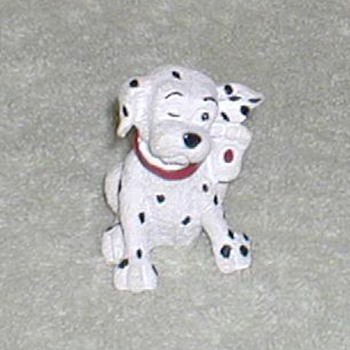 Dalmatian Scratching Puppy Figurine