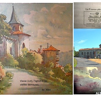 """Home In Viazac France"" by Albin'/ Stehli Freres,Editeurs, Zurich,Switerland Lithograph/Circa 1930   - Visual Art"
