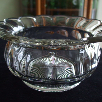 Rare Canadian REGISTERED Glass SPITTOON