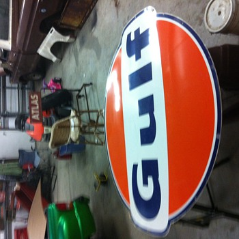 Gulf sign 6ft 1967 - Petroliana