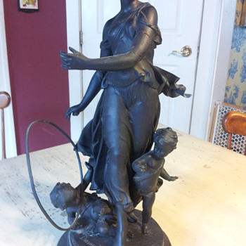 Victorian Spelter Statue by Dumaige
